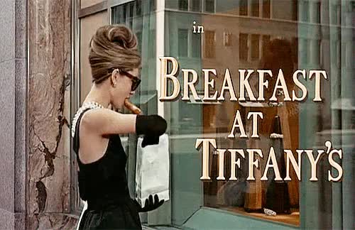 Watch Breakfast at Tiffany's (1961) GIF on Gfycat. Discover more 1960s, 1961, 60s, audrey hepburn, breakfast at tiffany's, film, gif, holly golightly, movie, vintage GIFs on Gfycat