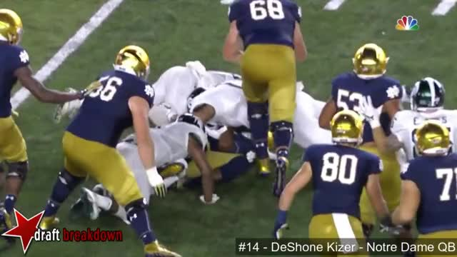 Watch and share DeShone Kizer (Notre Dame QB) Vs Michigan State 2016 GIFs on Gfycat