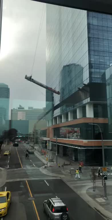 Watch and share Extreme Winds In Calgary Today Toss Around Window Washers GIFs by makeitstop on Gfycat