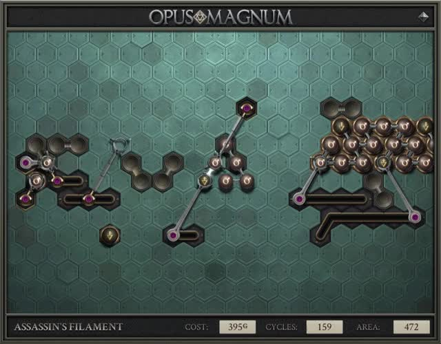 Watch and share Opus Magnum - Assassin's Filament (395G, 159, 472, 2019-06-06-16-41-54) GIFs on Gfycat