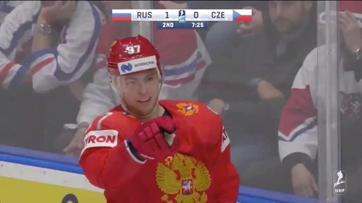 RUSvCZE second goal hug GIFs