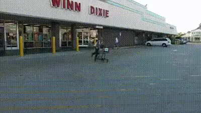 Watch and share Shopping Cart Race GIFs on Gfycat