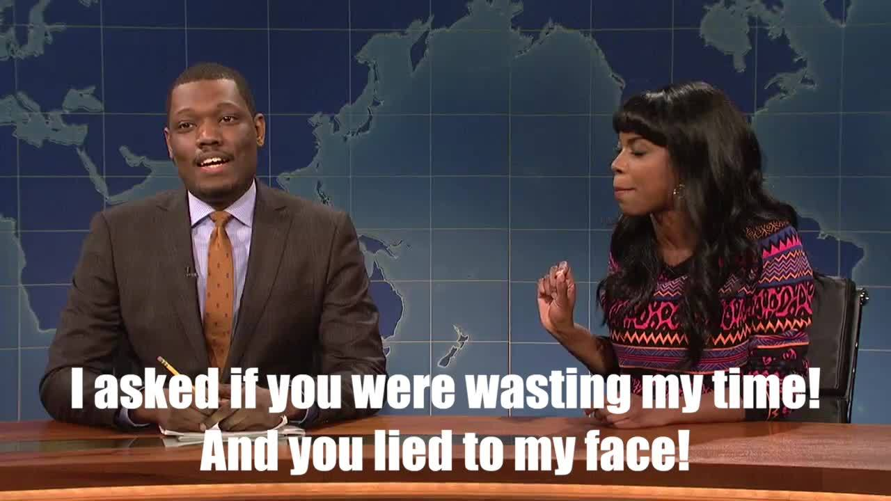 Michael Che, livefromnewyork, I thought this WU moment was quite well-done (reddit) GIFs