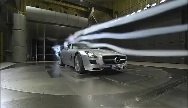 Watch and share Mercedes-Benz SLS AMG Developement And Testing Wind Tunnel GIFs on Gfycat