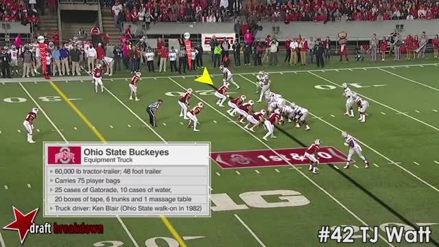 Watch and share TJ Watt V Ohio St 2016 GIFs by oriese on Gfycat