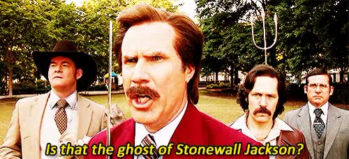 Watch this anchorman GIF on Gfycat. Discover more anchorman, anchorman 2, ghost of stonewall jackson, ron burgundy, stonewall jackson, will ferrell GIFs on Gfycat