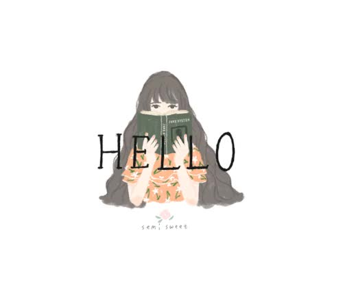 Watch this hello GIF by The GIF Smith (@sannahparker) on Gfycat. Discover more book, hello, hi, reading, semi sweet GIFs on Gfycat