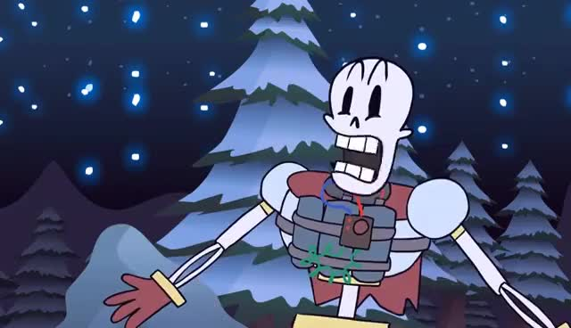 Watch and share Papyrus Finds A Human GIFs on Gfycat