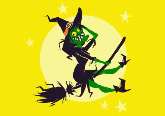 Watch this halloween GIF by Reactions (@ioanna) on Gfycat. Discover more broom, broomstick, fly, funny, green, halloween, happy, moon, scary, sky, stars, sun, ugly, witch, yellow GIFs on Gfycat