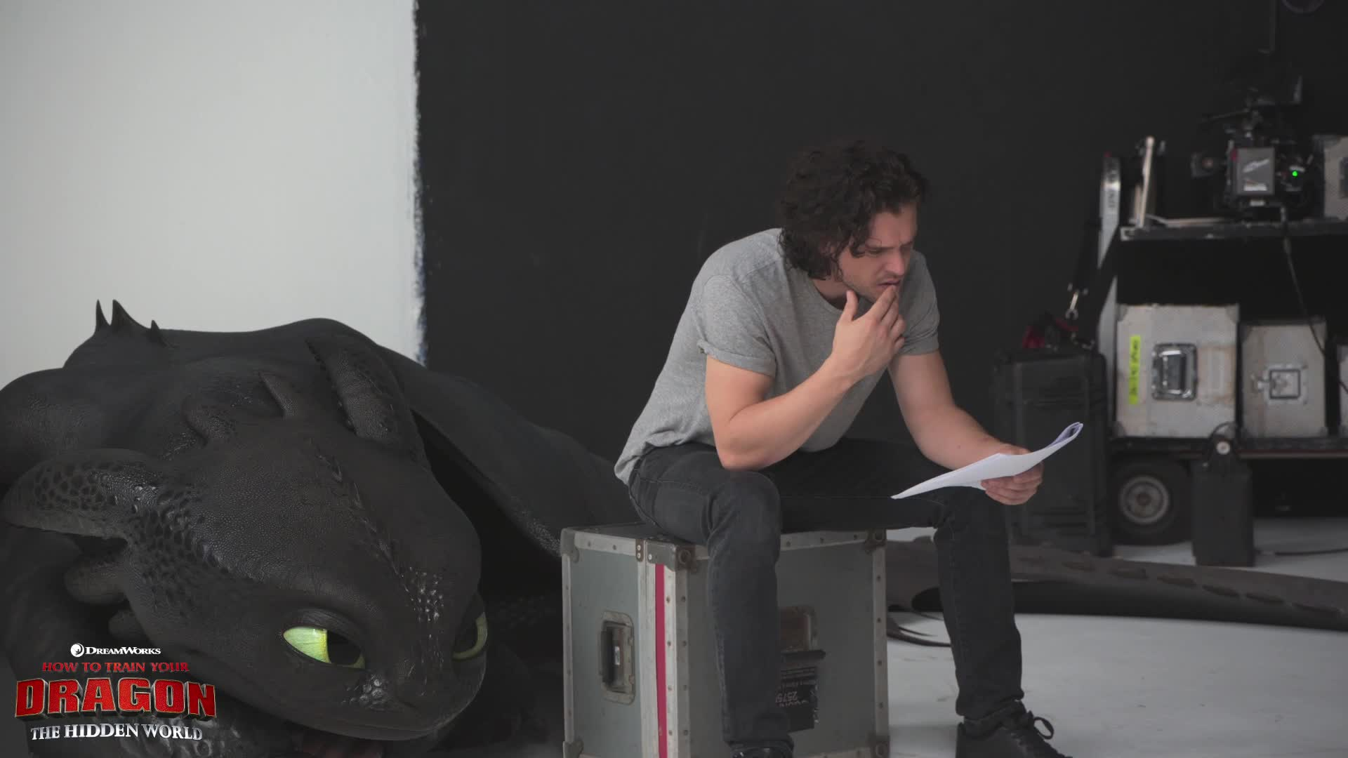 confused, how to train your dragon, how to train your dragon the hidden world, httyd, httyd3, huh, kit harington, question, toothless, what, Kit Harington Confused GIFs
