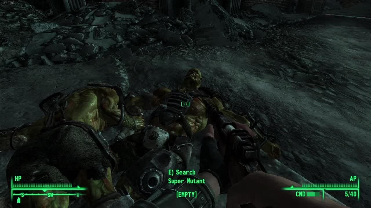 gamephysics, [Fallout 3] Super Mutant Breakdance (reddit) GIFs