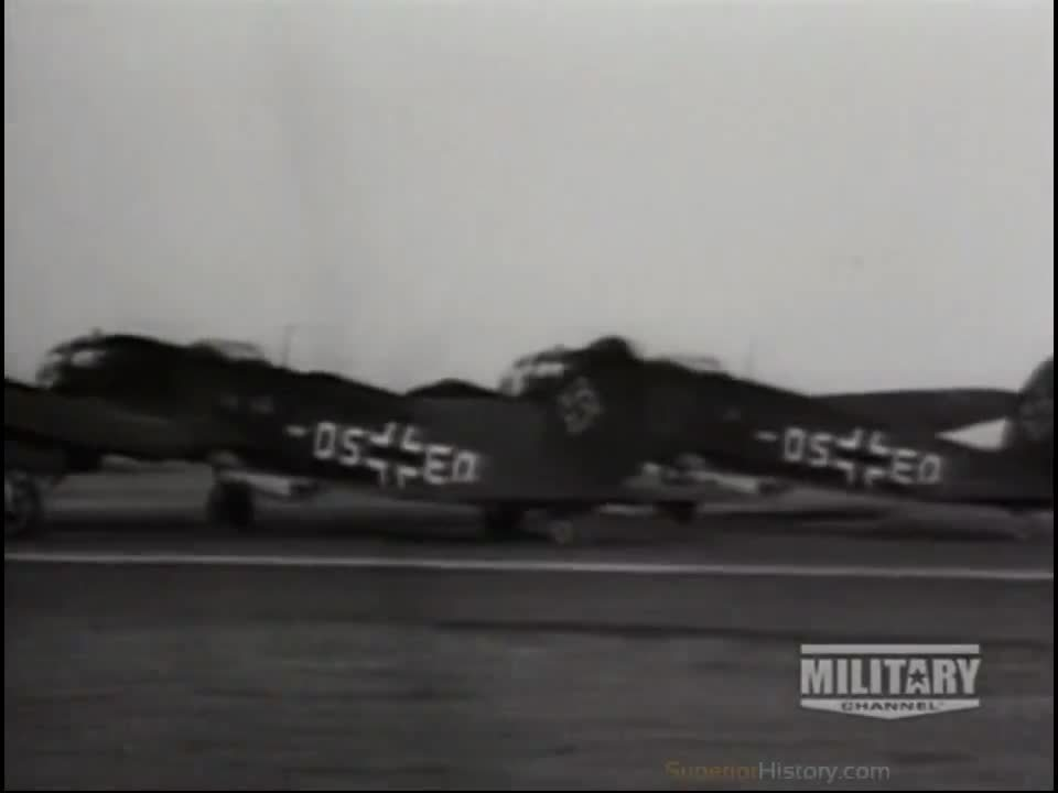 wwiiplanes, Three Bf 110 fighter planes tow the ME 321 Gigant glider into the air assisted by hydrogen peroxide rockets. (reddit) GIFs