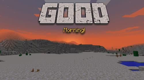 gaming, gg, good morning, goodmorning, mine craft, minecraft, minecraft sunrise, morning, pixel, sunrise, доброе утро, Minecraft Good Morning GIFs