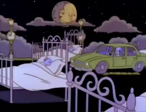 Watch and share The Simpsons Homer Sleep Driving GIFs on Gfycat