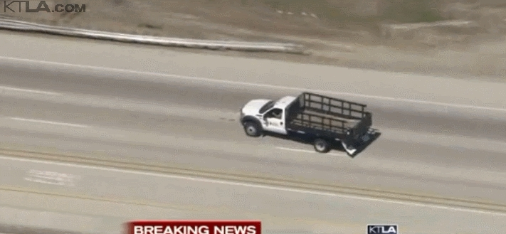 losangeles, There's a live car chase on KTLA (channel 5) right now. (reddit) GIFs