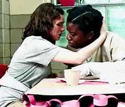 Watch this trending GIF on Gfycat. Discover more THE MOST IMPORTANT HUG THIS SEASON, THIS SCENE WINS MY HEART, [tv; orange is the new black], c; lorna morello, c; suzanne warren, lorna morello, m, orange is the new black, suzanne warren, uzo aduba, yael stone GIFs on Gfycat