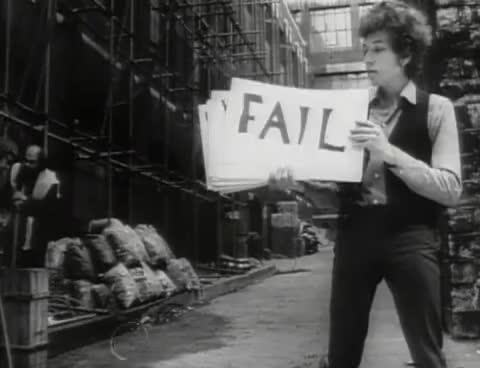bob dylan, fail, Bob Dylan - Subterranean Homesick Blues GIFs