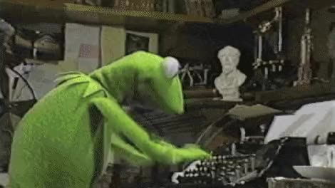 Watch and share Typing Writing Kermit GIFs on Gfycat