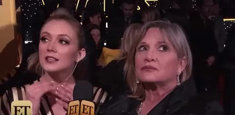 Watch this carrie fisher GIF on Gfycat. Discover more carrie fisher, red carpet GIFs on Gfycat