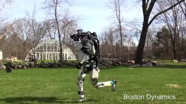 Watch Boston Dynamics Atlas Jogging GIF on Gfycat. Discover more Boston Dynamics, Dynamic robots, humanoid robot, legged locomotion GIFs on Gfycat