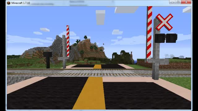 Watch and share Railroad Crossing (part Of A WIP Trains Mod) (reddit) GIFs on Gfycat