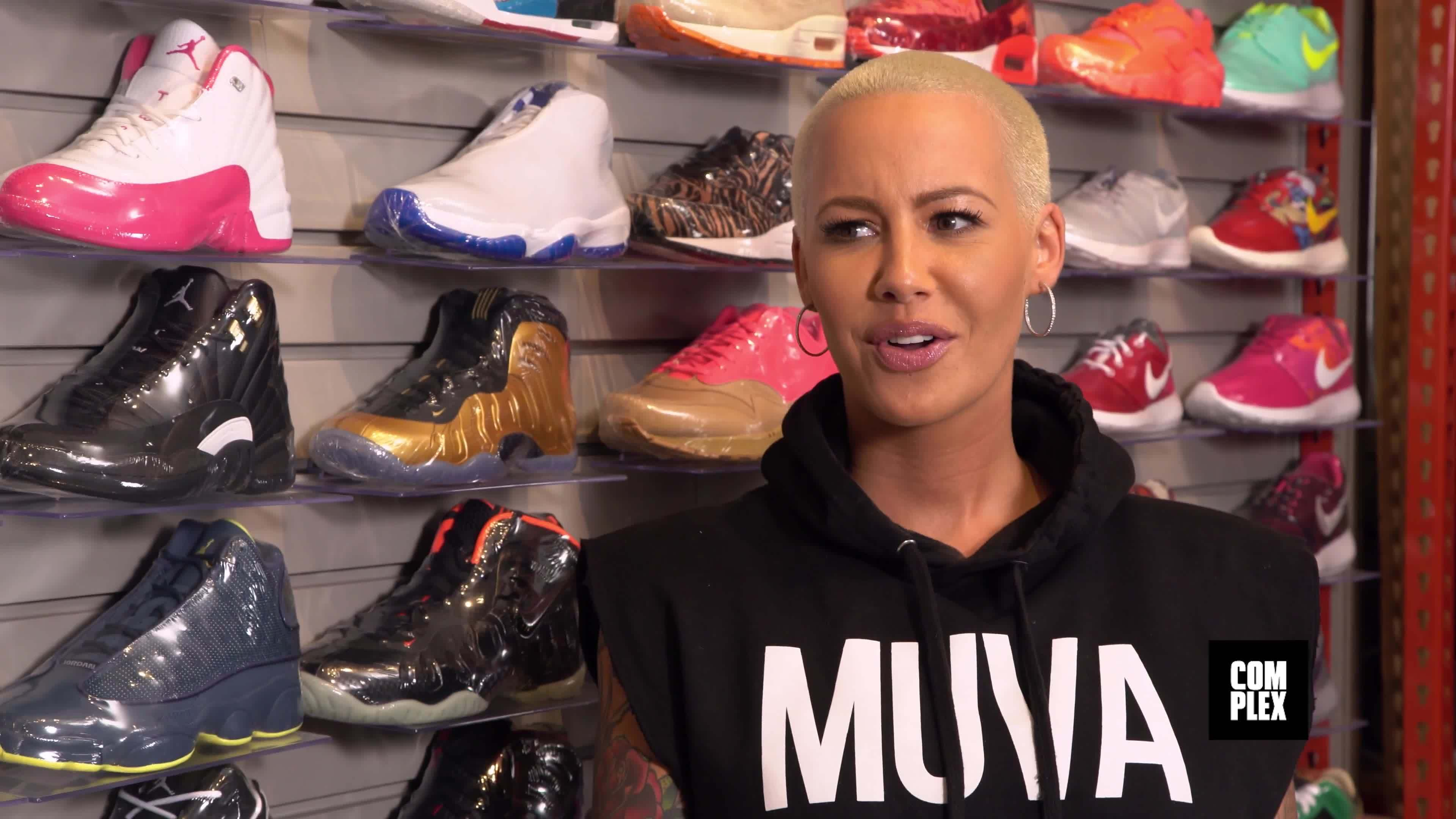 amber, magazine, rose, Sneaker Shopping With Amber Rose GIFs
