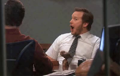 Watch andy-dwyer-shock GIF on Gfycat. Discover more chris pratt GIFs on Gfycat