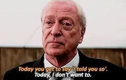 Watch and share The Dark Knight GIFs and Michael Caine GIFs on Gfycat