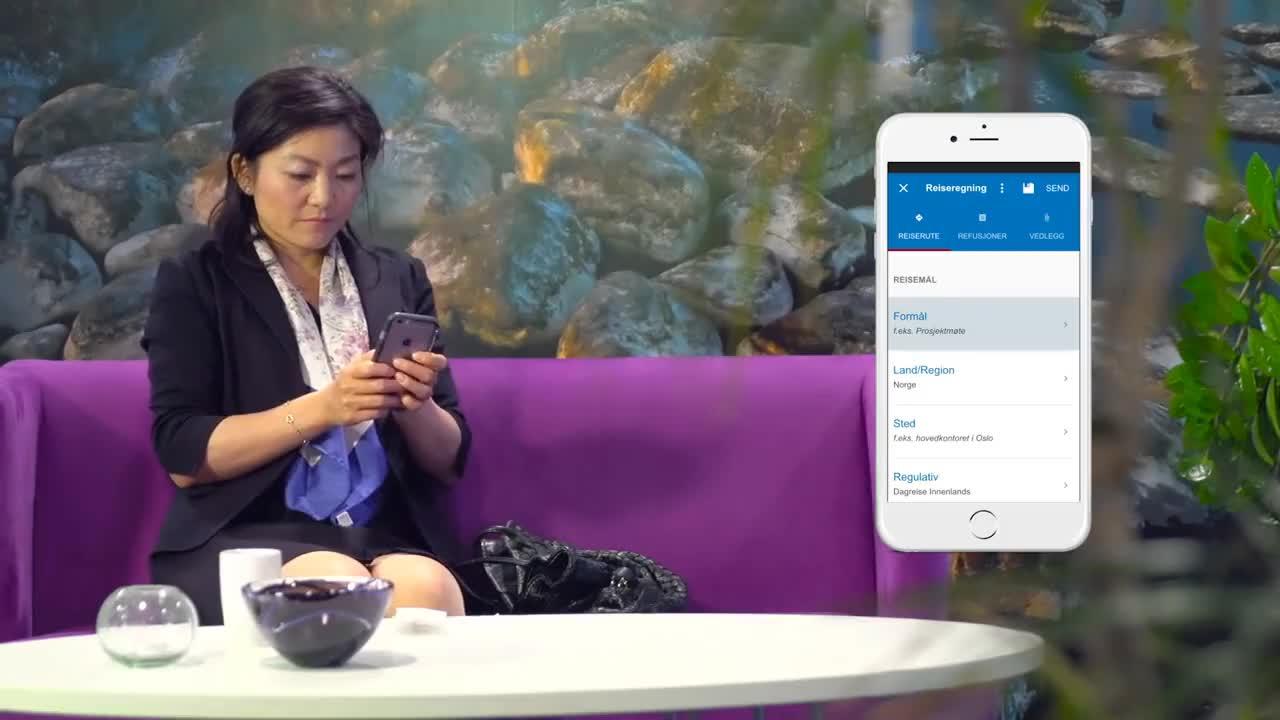DFØ-appen med reiseregning GIFs