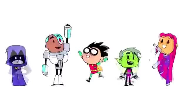 Watch Teen Titans Go GIF on Gfycat. Discover more animated, bouncing, cartoon, cute, teen titans GIFs on Gfycat