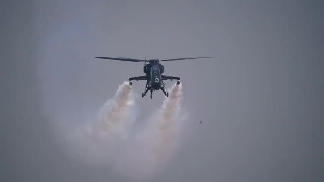 Watch and share HAL Light Combat Helicopter At Aero India 2015 (reddit) GIFs on Gfycat