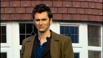 The Doctor stares in disgust GIFs