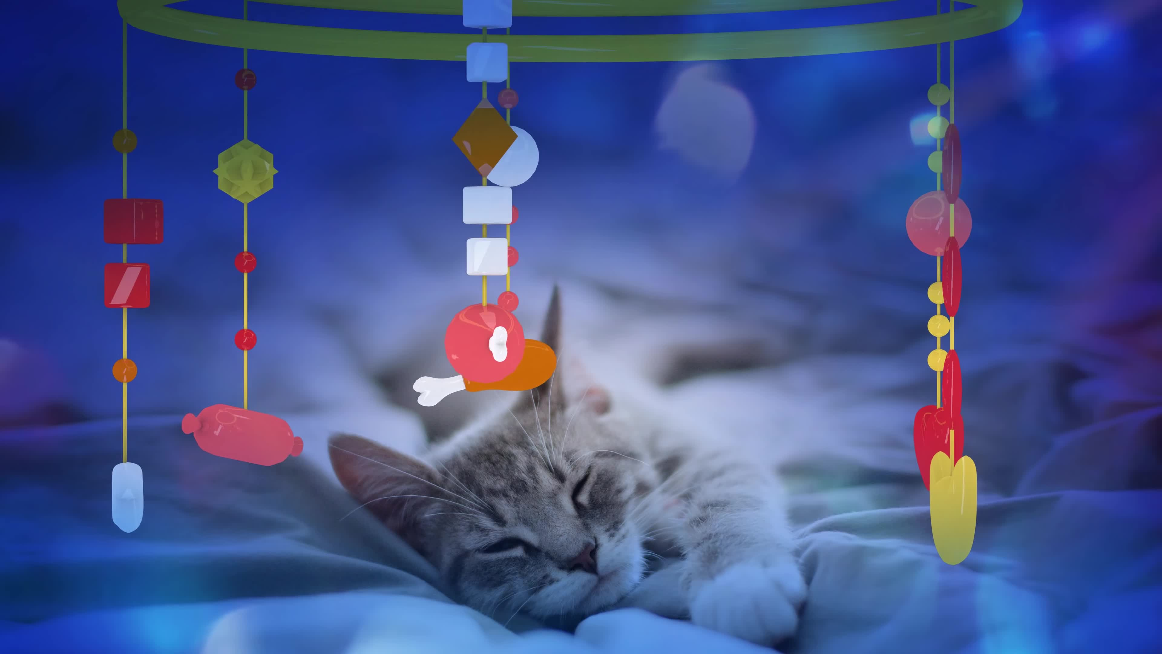 CAT MUSIC LULLABY FOR CAT OR KITTEN SOOTHING MUSIC 1 HOUR 4 K