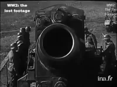 Watch Germans Firing Some Of The Biggest Cannons Like Schwerer Gustav during The Siege of Sevastopol [WW2] GIF by @superhind on Gfycat. Discover more related GIFs on Gfycat