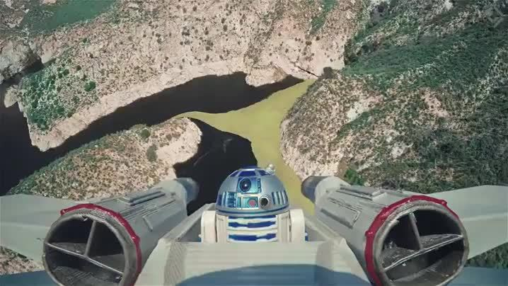 Stars Wars Drone Dogfight GIFs