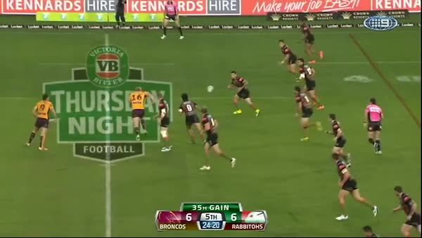 highlightgifs, Inglis' great try against the Broncos. (reddit) GIFs