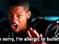Watch irobot, will smith, img sorry, im allergic to bullshit, bs GIF on Gfycat. Discover more will smith GIFs on Gfycat
