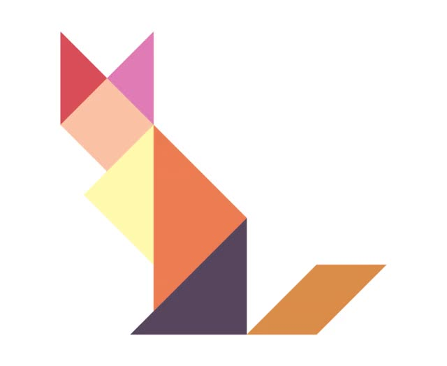 Watch and share Crystalised-Wildlife-Tangram-animated-FOX GIFs on Gfycat