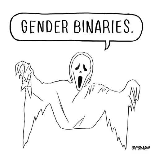 Watch binary GIF on Gfycat. Discover more Animation Domination, Animation Domination High Def, Artists On Tumblr, FOX ADHD, Faye Orlove, college debt, fox, gender binary, gif, halloween, lol, scary, self debt, social axiety GIFs on Gfycat