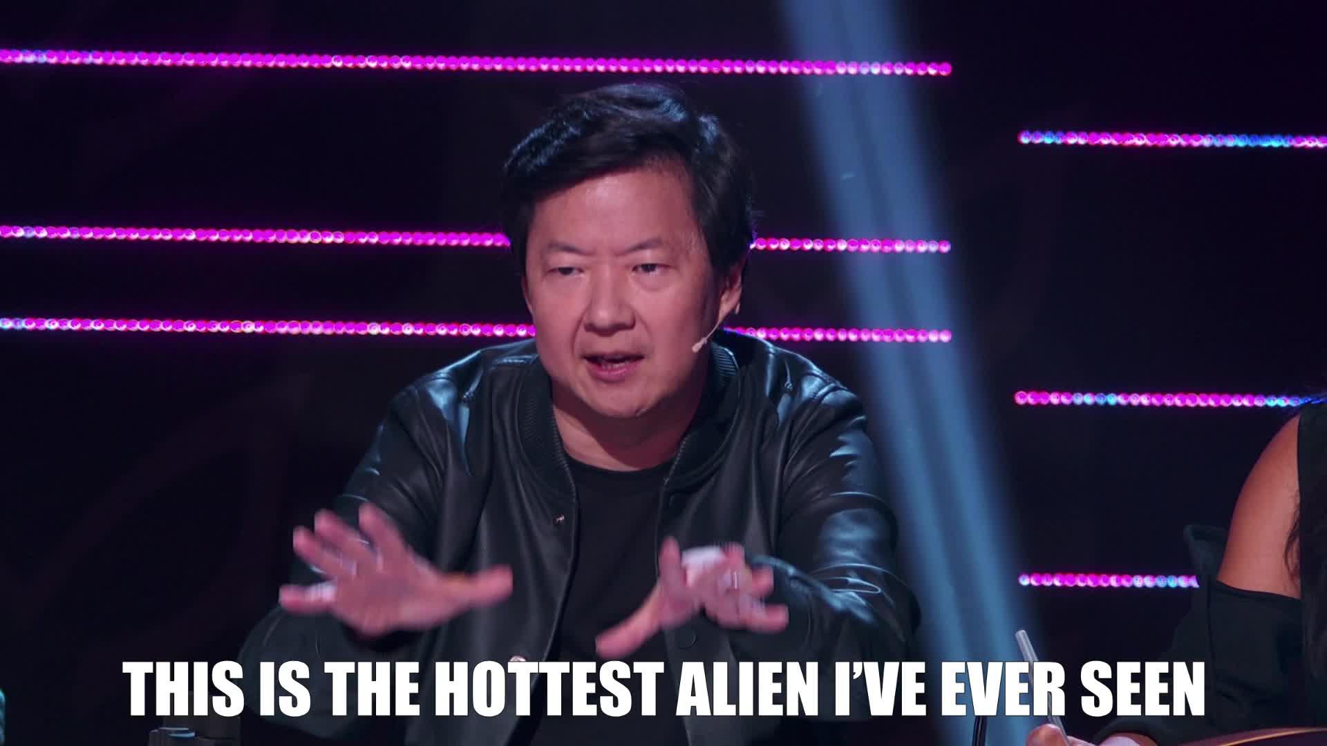 alien, feels, hot, ken jeong, masked singer, nailed it, the masked singer, the masked singer on fox, Hottest Alien Ever GIFs