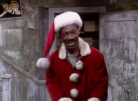 christmas, claus, come, eddie murphy, excited, happy, here, hey, holiday, in, laugh, lol, on, santa, smile, this, way, welcome, xmas, yes, Eddie Murphy - Come on GIFs