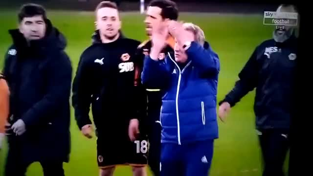 Watch Neil Warnock and Nuno Espirito Santo FIGHT After Game! Cardiff City vs Wolves GIF on Gfycat. Discover more All Tags, City, Game, Neil, Nuno, VS, after, cardiff, espirito, fight, santo, warnock, wolves GIFs on Gfycat