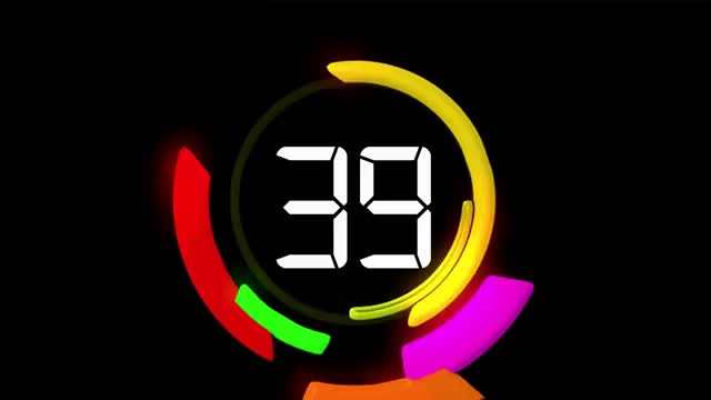 60 seconds Countdown - TIMER WITH VOICE and SOUND effects ( v 49
