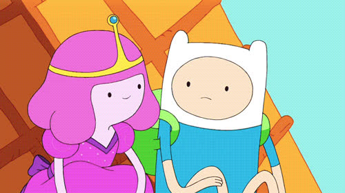 aww, awww, couple, cute, love, sweet, together, Adventure time - Awww GIFs