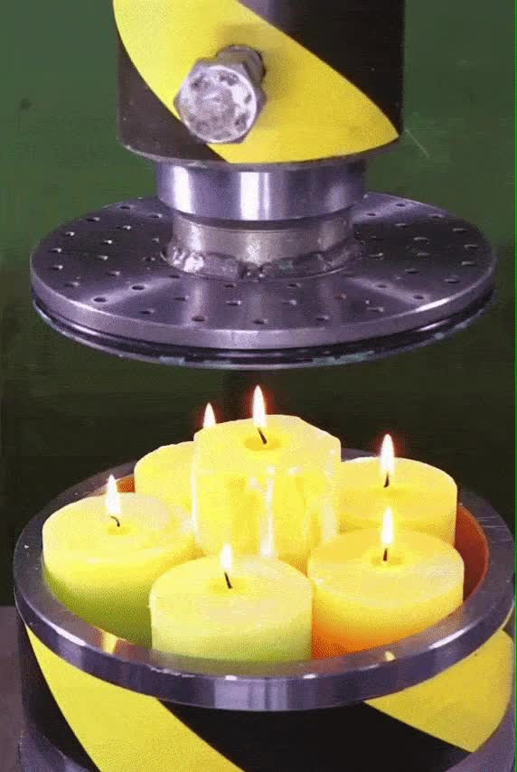 Watch and share Hydraulic Press Burning Candles GIFs by Mahmoud M. Mahdali on Gfycat