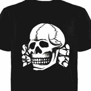 Watch and share Totenkopf T-Shirt (White Ink) GIFs on Gfycat