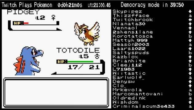 twitchplayspokemon, Totodile used leer! (reddit) GIFs
