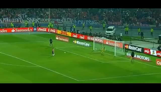 Watch and share Gol Penal Alexis Sanchez Chile 0(4)-0(1) Argentina Trovador Del Gol Chile Campeon Copa America 2015 GIFs on Gfycat