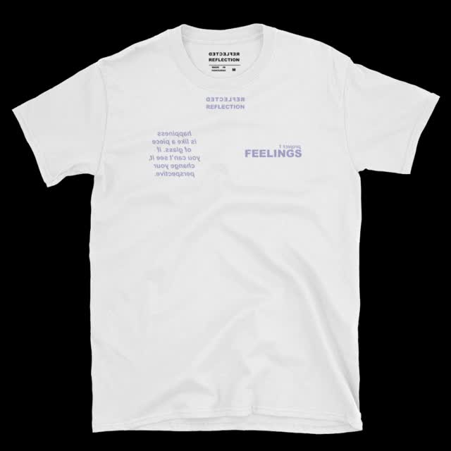 Watch and share Happiness T-shirt White GIFs on Gfycat