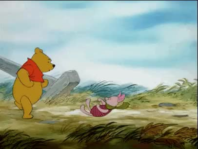 Watch and share Winnie The Pooh Blustery Day animated stickers on Gfycat